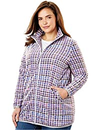 Plus Size Zip-Front Microfleece Jacket