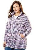 Woman Within Women's Plus Size Cozy Zip-Front Jacket in Anti-Pilling Fleece