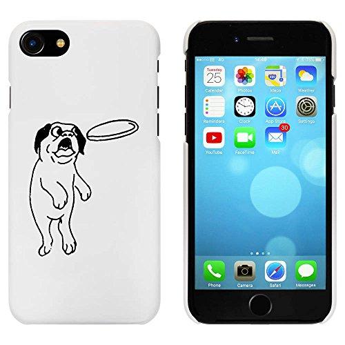Weiß 'Springender Mops' Hülle für iPhone 7 (MC00061874)