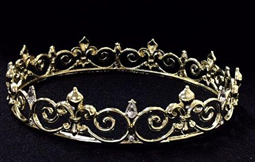 Diamond Gold Crown Prom King Queen Fleur De