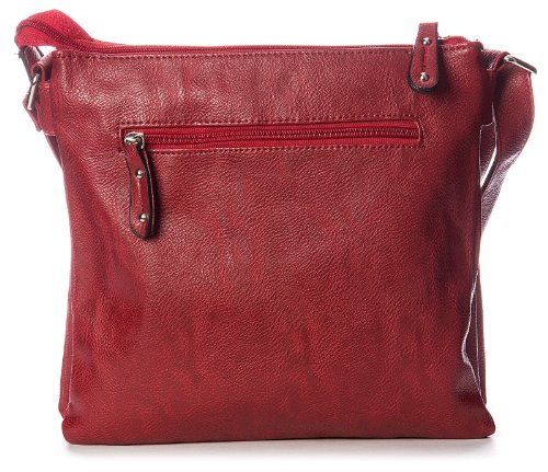 Big Handbag Shop - Bolso al hombro de sintético para hombre One Negro