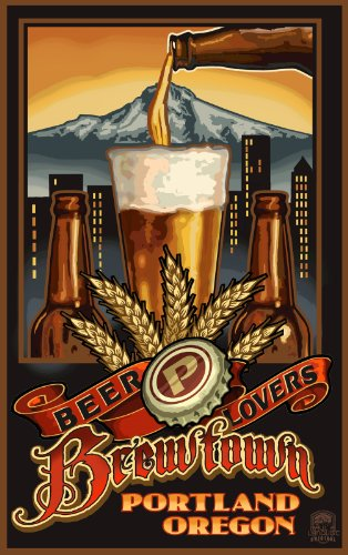 Northwest Art Mall Portland Oregon Brewtown Beer Lovers Unframed Prints by Paul A Lanquist, 11-Inch by - In Oregon Mall Portland