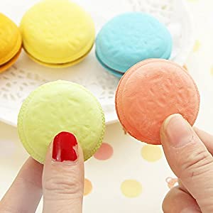 Ioffersuper 10 pcs/lot Fashion Cute Macarons Colors Rubber Pencil Eraser Sweet Stationery Set