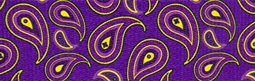 Country Brook Design | 1 1/2 Inch Purple Paisley Polyester Webbing, 5 Yards