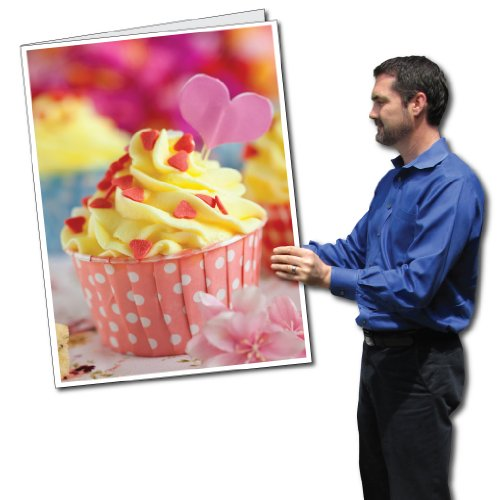 2' x 3' Giant Valentine's Day Card - Cupcake - Envelope Included