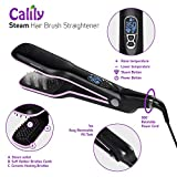 Calily Heated Hair Brush Straightener with Hair Steaming – Amazing and Innovative Hair Straightener / Achieve the Perfect Hairstyle in Minutes, features