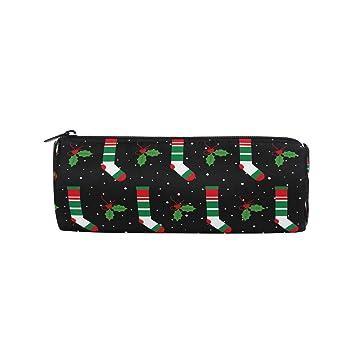 Estuche para lápices de Navidad con cremallera, diseño de ...