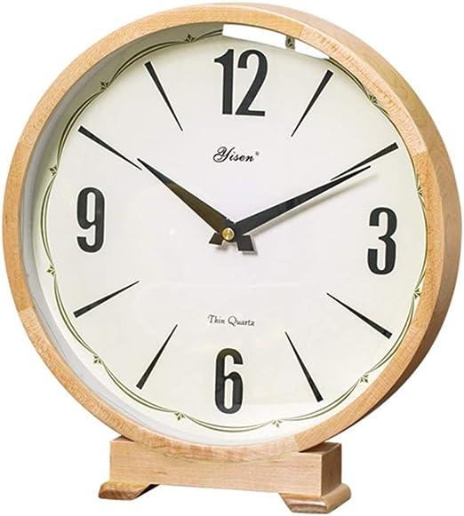 Relojes de escritorio Apariencia De Madera Maciza Reloj Decorativo ...