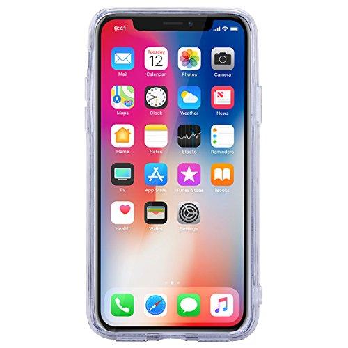 Yokata Cover per iPhone X iPhone 10 Silicone Originale [IMD Tecnologia] Fantasia Glitter Disegno Custodia Gel Molle di Flessibile TPU Morbido Case Protezione Backcover Soft Caso Gomma Rigida Bumper Pr