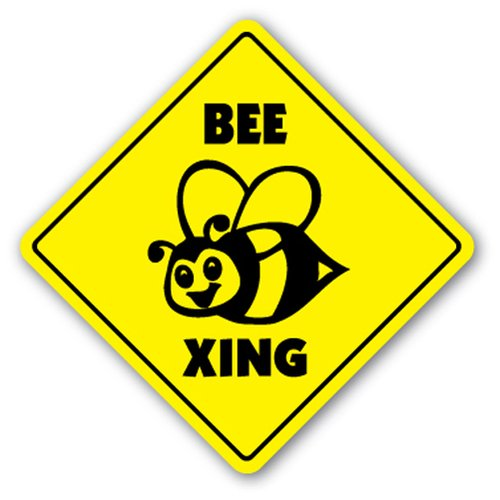[SignJoker] BEE CROSSING Sign xing hive bumble keeper killer gift Wall Plaque Decoration