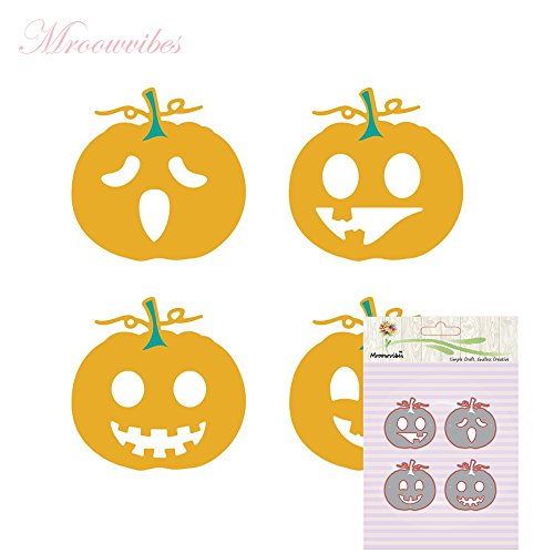 Cutting Dies,Hstore Halloween Pumpkin Paper Card Making Metal Die Cut Stencil Template for DIY Scrapbook Photo Album Embossing Craft Decoration (A) ()