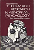 Theory and Research in Abnormal Psychology, , 0030842948