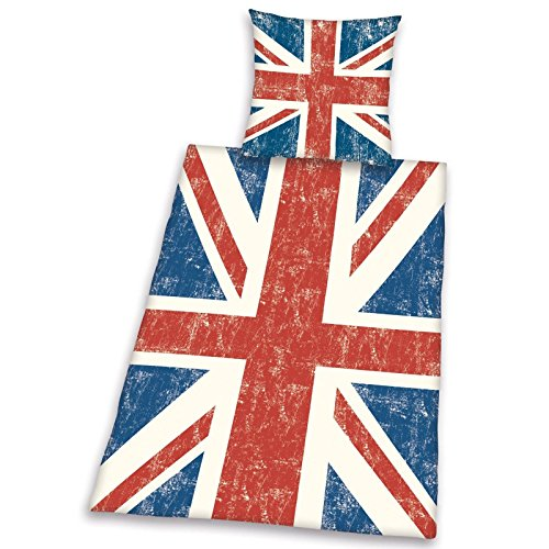 Vintage Union Jack Duvet Single/US Twin Cover & Pillowcase Set (Union Jack Bedding Twin compare prices)