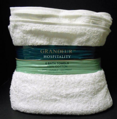 Grandeur Hospitality 100% Ring Spun Cotton Soft-Durable-Absorbent Towels