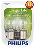Philips 1156LLB2 LongerLife Miniature Bulb, 2 Pack