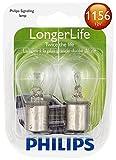 Philips 1156 LongerLife Miniature Bulb, 2 Pack