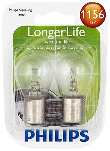 Philips 1156 LongerLife Miniature Bulb, 2 (Lights Electric Brake)