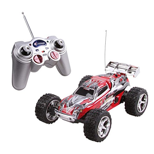 DeXop Rc Car, 2WD 1:32 Scale Remote Control Racing Car High Speed Vehicle RC Car Red