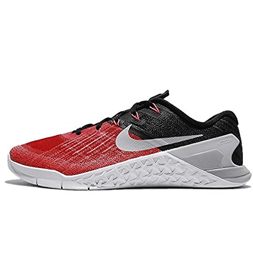 NIKE Mens Metcon 3 Training Shoes Track University Red/Wolf Grey/Black 852928-600 Size 8 ()