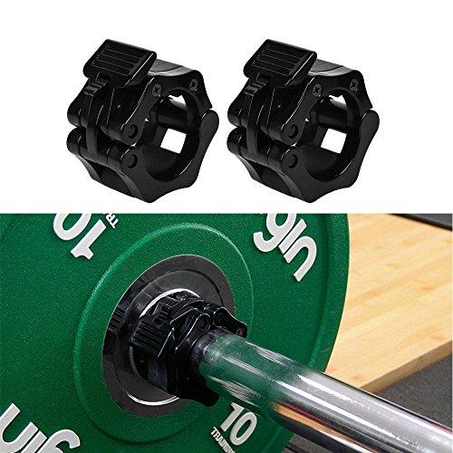 1 barra olímpica de pares 25 mm cerradura abrazadera Collar Clip con mancuernas elevación Spinlock
