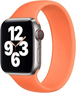 Strawberry Apple Pie - Solo Loop Band Compatible with Apple Watch Bands Replacement Sport Strap Silicone Wristband Men Women for Iwatch Series 6/SE/5/4/3/2/1 40mm 38mm Kumquat 42mm 44mm Size 6