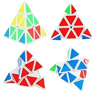 Magic Speed Cube Set of 3 Pyraminx Skewb Square-1 SQ1, Xben Brainteaser Cube Twisty Puzzle Toy