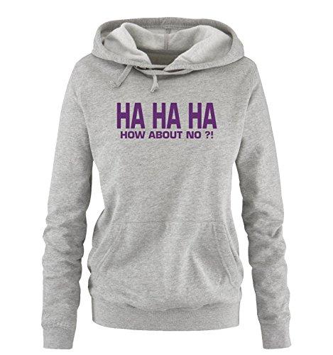 Comedy Xl No Cappuccio S Taglia Ha How Sweater Grigio About Donna Viola Hoodie Shirts rRIZPwqfr