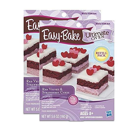 Easy Bake Refill Red Velvet & Strawberry Cakes Refill - 2 Pack - 11.2 oz Total (Easy Bake Red Velvet Cake Mix Instructions)