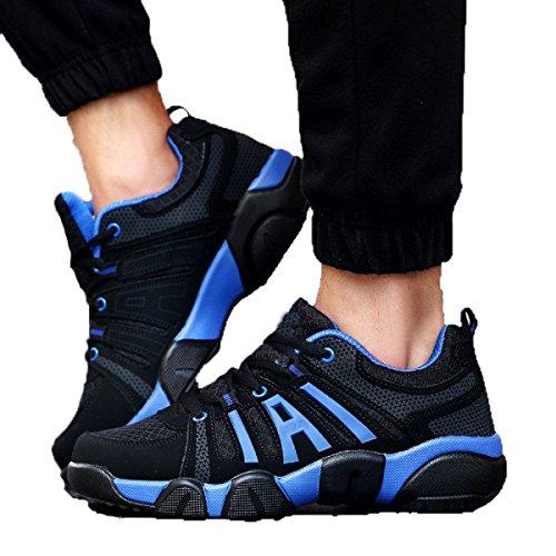 Zapatos Para Caminar Al Aire Libre De Los Hombres De Malla Transpirable De Varios Tamaños Multicolor DarkBlue