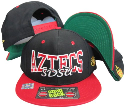San Diego Aztecs Black/Red Adjustable Snapback Hat/Cap (Retro Sports San Diego)