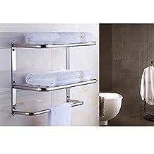 YANXH Modern Design Wall Mounted Shelf Towel Rack for Bathroom Washroom Bath Accessories , D 40cm