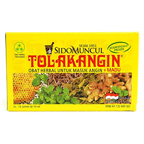 Herbal Syrup with Honey - Tolak Angin (12 x 15 ml)