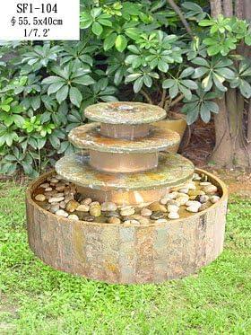 Pondiregal Fuente Piedra Redonda: Amazon.es: Jardín