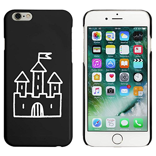 Noir 'Château avec Drapeau' étui / housse pour iPhone 6 & 6s (MC00051245)