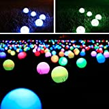 LED Ball Light, 3.5-inch Color Changing Waterproof LED Lights Remote Control Night Light Decorative Lighting Great for Indoor Outdoor