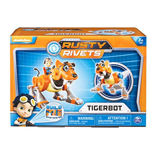 Rusty Rivets Tigerbot Building Set with Lights and Sounds, for Ages 3 and Up - coolthings.us