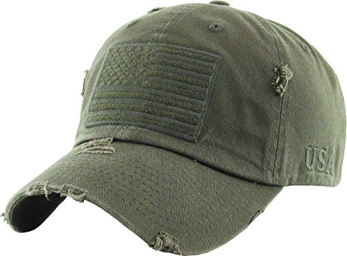 KBETHOS KBVT-209 OLV Tactical Operator With USA Flag Patch US Army Military Baseball Cap Adjustable