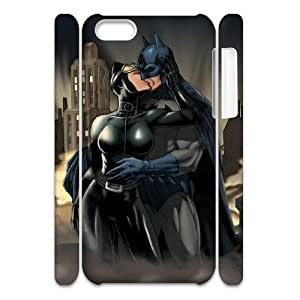 YUAHS(TM) Custom 3D Cover Case for Iphone 5C with Batman and Catwoman YAS926069