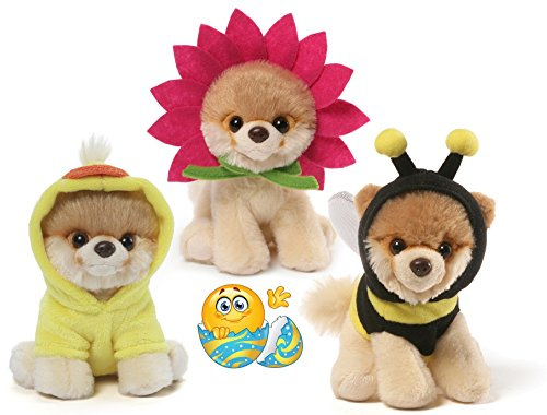Gund Itty Bitty Boos #030 Daisy, #036 Bee, and #029 Quackin' Up Easter Special Set of 3 Plush 5