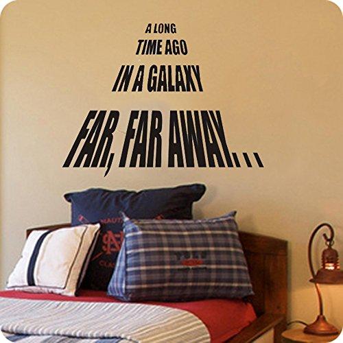 A Long Time Ago in a Galaxy Far, Far Away-on Sale Star Wars Themed Vinyl Wall Decals (22x22, black)