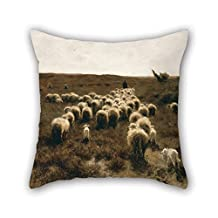 The Oil Painting Anton Mauve - The Return Of The Flock, Laren Throw Pillow Covers Of 20 X 20 Inches / 50 By 50 Cm Decoration Gift For Him Birthday Outdoor Son Relatives Kids Girls (2 Sides)