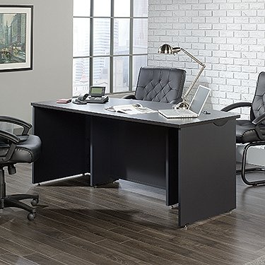 Sauder 419773 Via Executive Desk, Bourbon Oak Finish - Via Table Contemporary