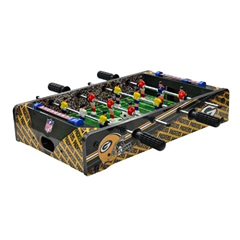 NFL Green Bay Packers Table Top Foosball, Dark Green/Gold, 20-Inch - Imperial International Green