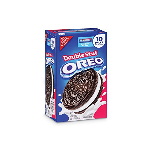 Nabisco Double Stuf Oreo (8 cookies/pack, 10 pks.) (pack of 2) by Nabisco