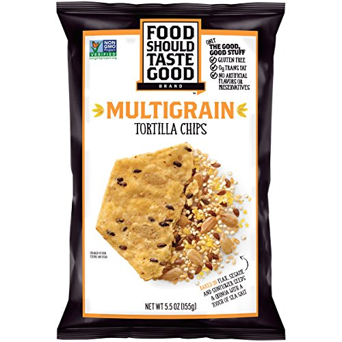 Food Should Taste Good, Tortilla Chips, Multigrain, Gluten Free Chips, 5.5 oz (Pack of 12)