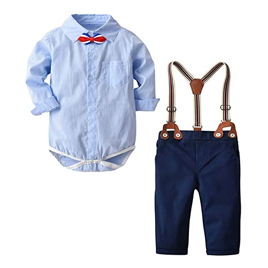 986bbf4c1cbc Infant Baby Boys Clothes Set Fall Winter Outfits 1-3 Years Old ❤ Bow