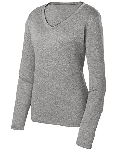 (Ladies Long Sleeve Moisture Wicking Athletic Shirts Sizes XS-4XL VINHEA-L)