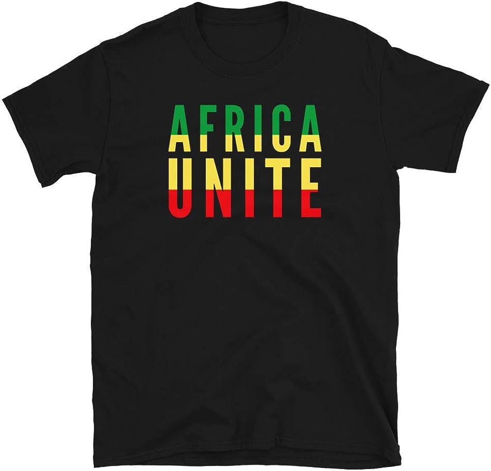 Home Gifts Plus Africa Unite Shirt Rasta Flag,Unisex T-Shirt, Reggae Music Shirt, Positive Quote