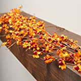 Factory Direct Craft Faux Autumn Bittersweet Twig Garland