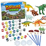 IROCH DIY Painting Dinosaurs Preschool 3D Handmade Creative Graffiti Crafts and Arts Painting Kit